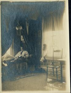 Herbert Hatch in his bedroom