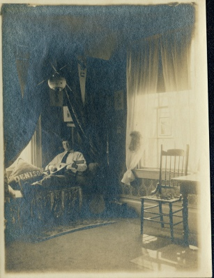 Herbert Hatch in his bedroom