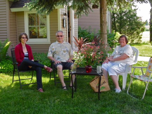 Jen, Dale, and Nancy. Where's Ron?