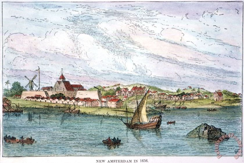 NEW AMSTERDAM, c1656 Painting; NEW AMSTERDAM, c1656 Art Print for sale