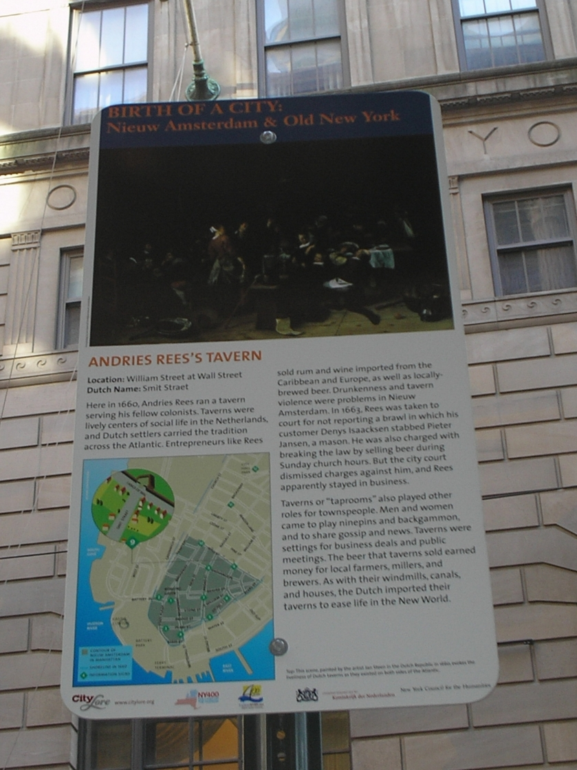 Andries Rees's Tavern Marker