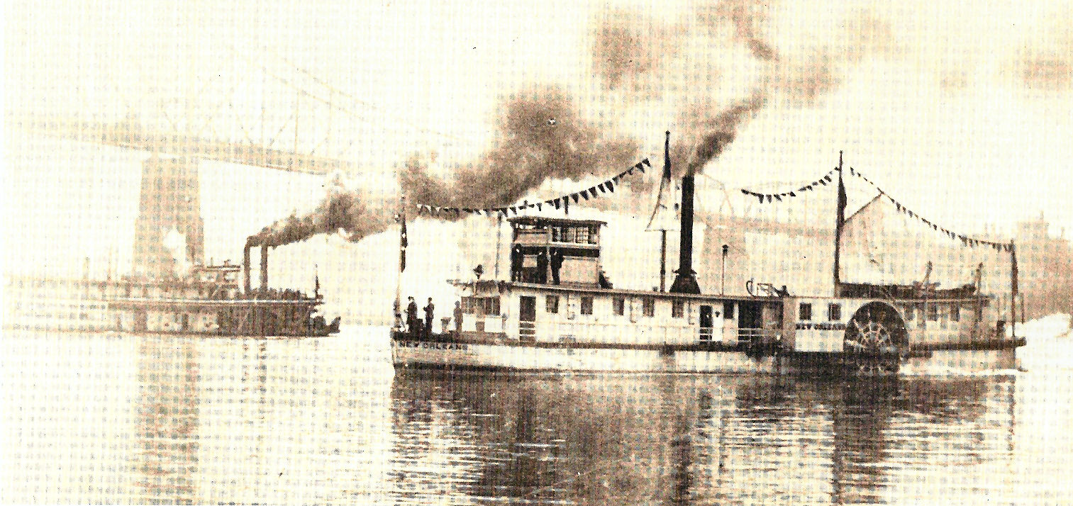 Replica of the New Orleans, (built in 1911), the first steamboat that traveled on the Ohio in 1811.