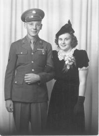 This is Art and Bernice possibly on their wedding day about 1943