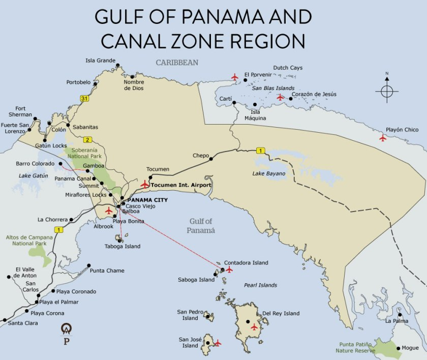 panama-gulf-of-panama-and-canal-zone-map