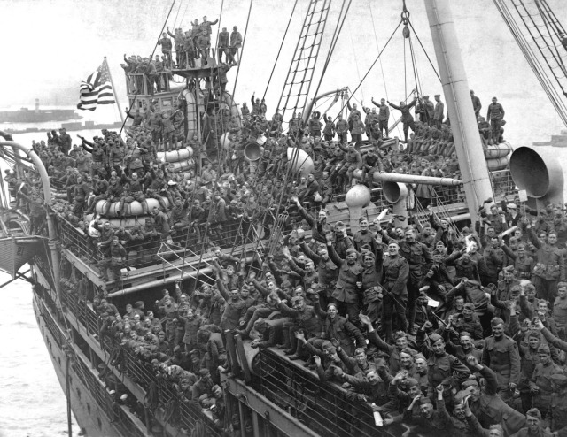 American Soldiers Returning Home on the Agamemnon, Hoboken, New Jersey