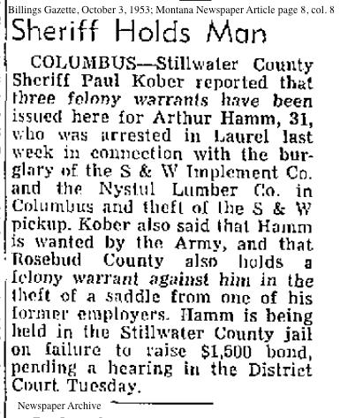 newspaper_hammart_arrested1953