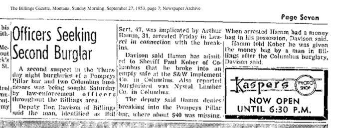 newspaper_hammart_arrested1953MT