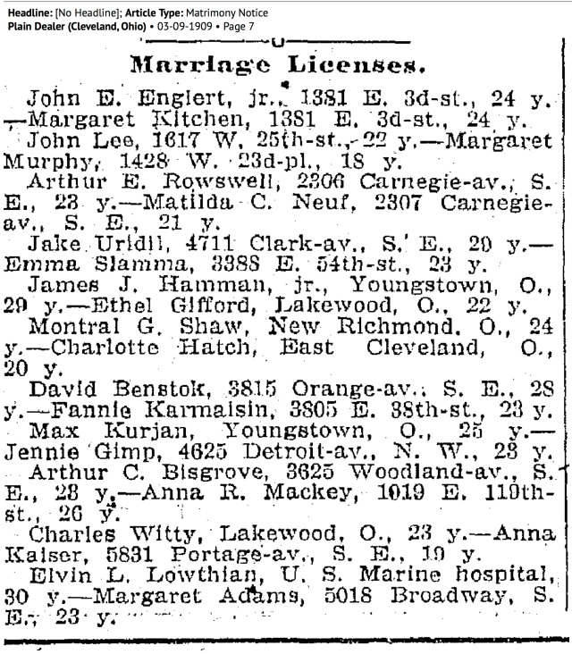 newspaper_shawhatchmarriageOH1909 copy
